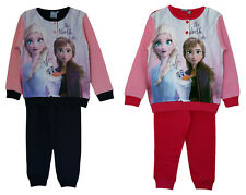Disney Frozen Elsa /& Anna Baumwolle Mädchen Pyjama Hemd Satz Langärmlig