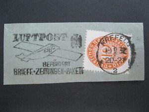 Deutsches Reich Mi.Nr. 129 Werbestempel KREFELD LUFTPOST 1932 Briefstück