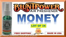 3X BluntPower 100% Concentrated Oil Based Air Fresheners Blunt Power MONEY