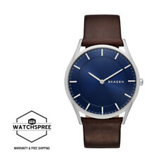 Skagen Men's Holst Slim Dark Brown Leather Watch SKW6237