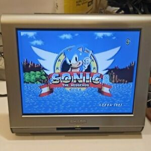 """Sharp LC-10A3U-S 10.4"""" LCD Color TV Working Great, w Remote, Manual"""