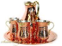 Orientalische Handmade Kupfer Ayran Set 8 Teilig / El dövmesi Bakir Ayran Takimi