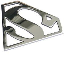 Grille Badge Emblem Billet Superman Logo Aluminum Polish Finish USA Made