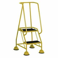 More details for yellow 2 tread tubular steel step - sby29291