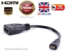 Micro HDMI Male to HDMI Female High Speed 19Pin Cable Adapter Convertor 1080P