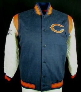 Chicago Bears Men's GIII Snap-Up Embroidered Letterman Jacket NFL LG