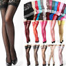High Thigh Hold-ups Stockings Womens Sheer Lace Top Stay Up Stretch Pantyhose