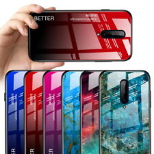 Gradient Tempered Glass Phone Case Marble Hard Hybrid Back Cover For Cellphone