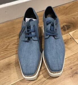 Stella McCartney Light Blue Denim Elyse Lace Up Shoes. BNWB. Size 39.5
