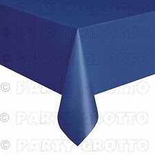 Amscan Plastic Oblong Tablecovers Table Cloth Cover Catering Events 19 Colours Navy Flag Blue