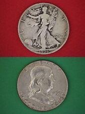 MAKE OFFER $1.00 Face Silver Franklin Walking Liberty Half Dollars Halves Junk