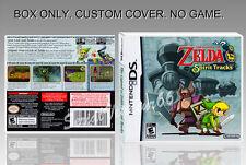 DS : THE LEGEND OF ZELDA SPIRITS TRACK . FR/ENGLISH. COVER + BOX. (NO GAME).