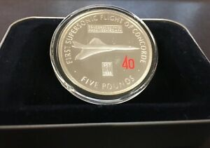 2009 £5 Coin Gibraltar 'Concorde's First Supersonic Flight'