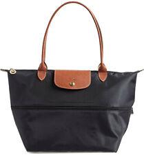 Longchamp Le Pliage Large Nylon Expandable Tote ~NIP~ Black
