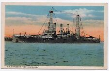USS NEW HAMPSHIRE Battleship BB-25 PC Postcard MILITARY USN US Navy NAVAL Ship