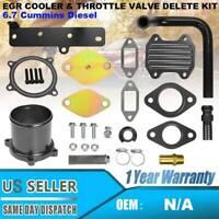 6.7L Cummins Diesel EGR Cooler & Throttle Valve Delete Kit For 2013-19 Dodge Ram