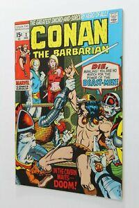 CONAN # 2 - RAW - Marvel - 1970 - Barry Windor Smith - In the Cavern Waits Doom!