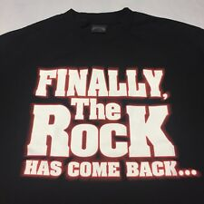 The Rock Finally Comes Back To Cleveland Large Black T-shirt Wrestling WWE WWF