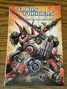 Transformers Prime Rage Of The Dinobots IDW Graphic Novel Comic Book 2014