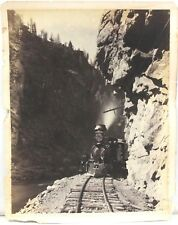 Lg Format Photo of Black Canon of the Gunnison, Hanging Rock by Wm H Jackson