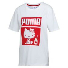 NEW 2/8 PUMA x HELLO KITTY Women's T-Shirt Red and White Size S