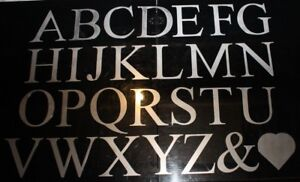 Stainless Steel Laser Cut Letters in Times Roman 150 mm High. Any Letter