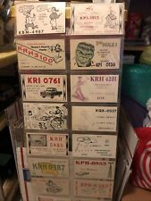 Vintage lot of 30 C.B. Ham Radio call cards, USA Most Are From Mo.