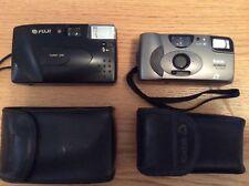 Set of 2 cameras with cases: Fuji DL-8 35mm, Kodak Advantix 1600 Auto APS camera