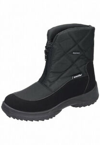 Manitu Stiefel mit Spikes Boots Winterschuhe schwarz 36-42 990414-1 Neu5