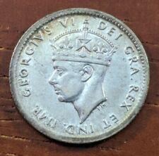1944 C MS UNC BU Newfoundland Canada 5 Five Cents Silver Half Dime Coin Lot D84