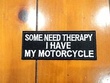 New Motorcycle Therapy Biker Patches Embroider Cloth Applique Badge Iron Sew On