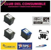 2 X HP 21XL + HP  22XL CARTUCHOS DE TINTA REMANUFACTURADOS  NO OEM