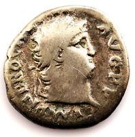 Roma-NERON. Denario 54-68 d.C.Roma. Plata 3 g. Muy escasa
