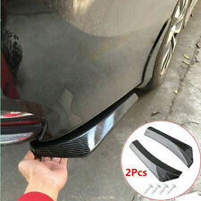 Car Rear Bumper Side Skirt Glossy Carbon Fiber ABS Spoiler Lip Splitter Diffuser
