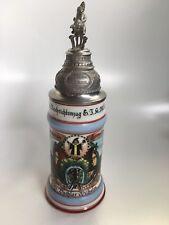 German Beer Stein Mug Reservistenkrug horseshoe Müchnen 1939 regimental military