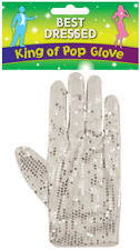 White Glove MJ Silver Sequin White Glove Billy Jean King Of Pop Fancy Dress