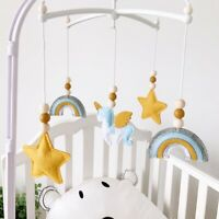 Crib Bell Unicorn Star Felt Cotton Pendant Toy Baby Mobiles Rattles Holder Decor