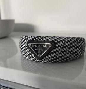 Prada Women's Black And White Classic Headband