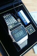 Stunning Vintage Seiko A159-5009 Lcd Chronograph Watch Complete Set