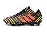 Adidas Nemeziz Messi 17.1 FG Soccer Cleats Black Solar Red Metallic Gold BB6351