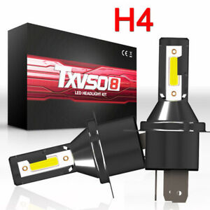 H4 Car LED Headlight Headlamp Hi/Lo Beam 26000LM 6000K 110W Kit Conversion Bulb