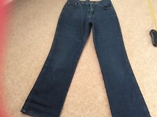 M&S JEANS CROPPED SIZE 12 LONG GREAT FOR SUMMER STRETCHY FOR COMFORTABLE FIT
