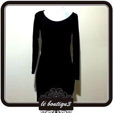 INDIGO Black Bodycon Dress Size 10 (C 24)