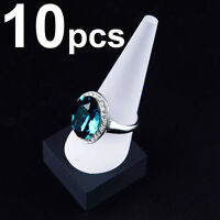 LOT OF 3 Pcs 1 FINGER RING DISPLAY WHITE RING DISPLAY SHOWCASE DISPLAY STAND
