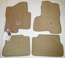 Cadillac Escalade & ESV/EXT 4PC Beige Custom Carpet Floor Mats w/Logo 2003-2006
