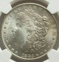 GEM QUALITY SILVER NGC Certified MS65 Morgan Silver Dollars 1883-O