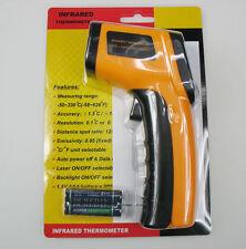 Sin contacto LCD Digital Temperatura Caliente IR Infrarrojo Pistola Termómetro punto láser