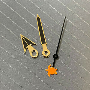 Watch Hands Gold-Edged Black Without Luminous Hands for NH35/36/4R/7S Movement