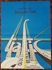 "TRAFIC (1971) aka ""TRAFFIC"" Rare Original French Movie Poster JACQUES TATI"