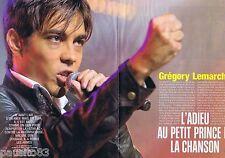 COUPURE DE PRESSE CLIPPING 2007 Gregory Lemarchal  (6 p) ADIEU petit Prince